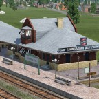 US - Style Bahnhofsmodul (Deadwood Train station)