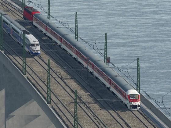 Parallelfahr vor Strasbourg