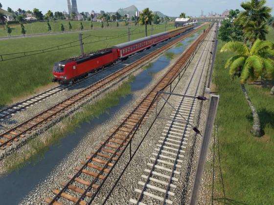 der erste Zug rollt