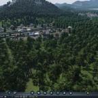 Kleines Dorf auf einem kleinen Berg mit blick ins Tal