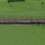 Güterzug mit Res687 und Zacns - Eingesetzte Lok ist eine BR145 von TX Logistik