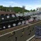 Kohle/Schlacke-Güterzug mit BBÖ 380 und Br 43