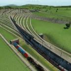Eine andere Ansicht von einem Gleisnachfeld/Vorfeld