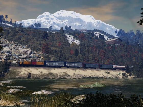 [TpF1] Local freight run near the lake
