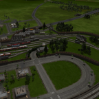 Dekoration: Fahrzeuge, Bäume, Felsen, Zuberhör als Wegpunkte