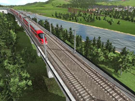 High Speed Line and City (300km/h)
