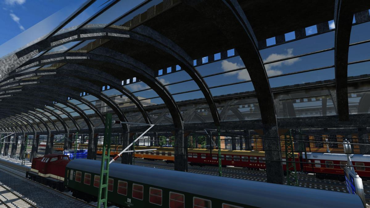 ein Blick in den Bahnhof