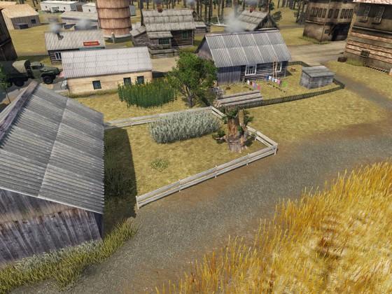 kleine alte Siedlung in der Steppe