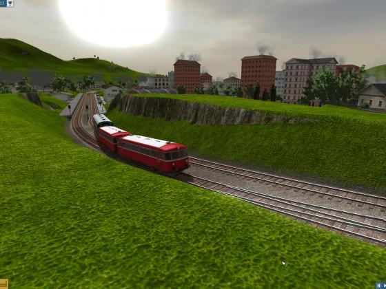 Ausfahrt Regionalzug aus Zickhusen