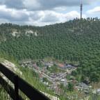 Aussicht vom NFH auf das Dorf von Aveyres