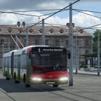 Innerhalb der Stadt verkehren auch Trolleybusse.