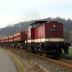 Harzkamel 199 872 am 04.03.14. Rollbockverkehr auf der HSB