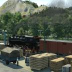 Nebenbahn mit kleinem Güterzug