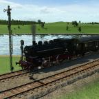 BR64 wartet am Signal auf Weiterfahrt