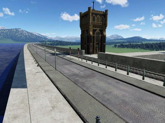 Staudamm  Panorama