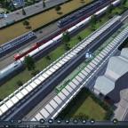 Bär zwischen den Zügen vor dem HBF