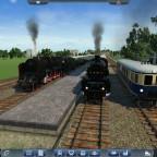 Treffen der Sonderzüge und des reaktivierten Personennahverkehrs zwischen Stolberg und Beilngries im Bahnhof von Stolberg