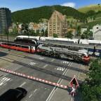 Fiktiver Cityjet mit Jubiläumslok