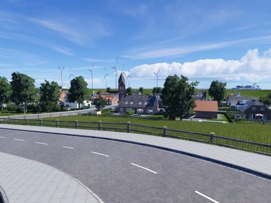 Norderblakers vom Bahnhof aus gesehen
