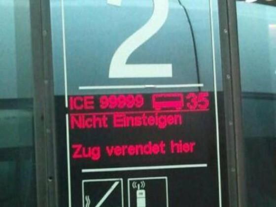 Ganz klarer Fall... der Zug wird sterben.
