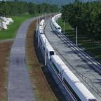 Zugbegegnung kurz vor dem Tunnel - NEP Version