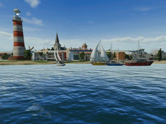Strandpromenade und Yachthafen von Kaltenberge