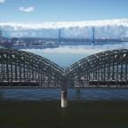 Amtrak's RDCs crossing the bridge