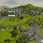 Der Zug fährt weiter nach Farnsworth HB (Endstation)
