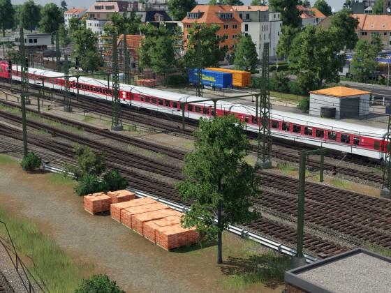 Bahnhofseinfahrt..