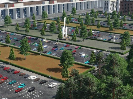 Parkplatz VW Werk