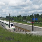 Nearly completed hs rail + highway through national park