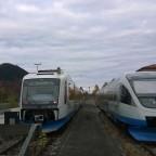 """Die """"BOB"""" im Bahnhof Schliersee"""