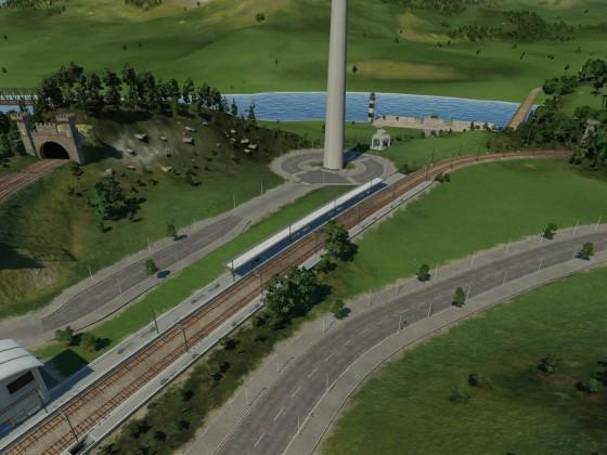 Anschluss der Güterbahn in Zürich
