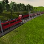Eine Regionalbahn fährt in den 1-gleisigen Bahnhof ein