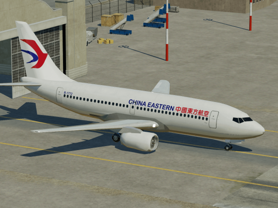 China Eastern 737-300 | Fresh out of the paintshop