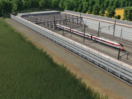 New sunken High speed line section