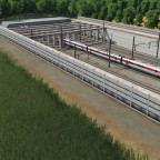 New sunken High speed line section
