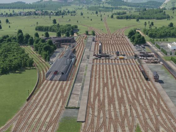 Güterbahnhof Rohbau - Übersicht